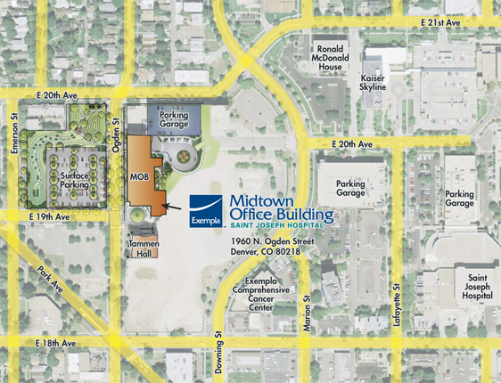 Colorado Hernia Center - Midtown Office Map